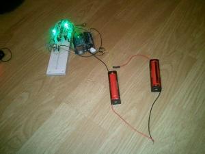 Arduino alimenté par 2 piles ultrafire