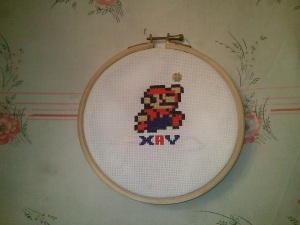 mario en point de croix :)