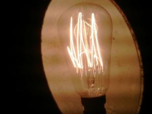 Ampoule 6 filaments allumées