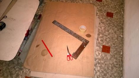 6 feuilles de carton de palette